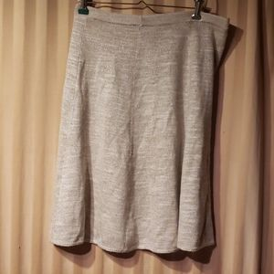 Dresses & Skirts - Cream wool semi sheer skirt under layer